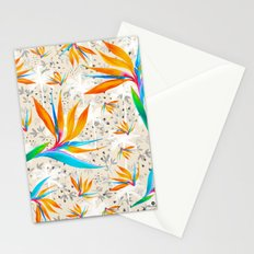 Tropical bird flower pattern Stationery Cards