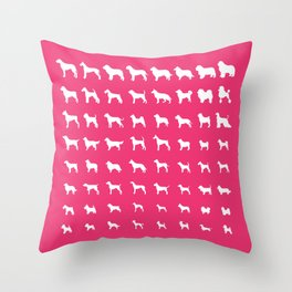 All Dogs (Pink) Throw Pillow
