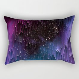 Ultra Violet Glitch Galaxy Rectangular Pillow
