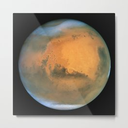 Planet Mars Deep Space Telescopic Photograph Metal Print