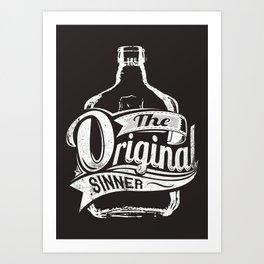The original sinner Art Print