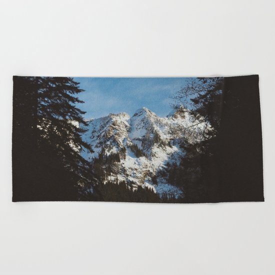 Rustic mountain Beach Towel