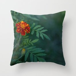 Flowers Tagetes Throw Pillow