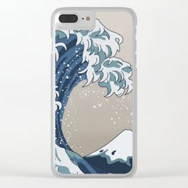 The Big Wave (homage to The Great Wave) Clear iPhone Case