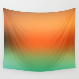 Orange Gradient Wall Tapestry