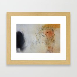 White Abstract Painting  Framed Art Print