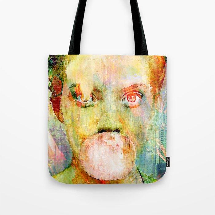 bubble gum  girl Tote Bag