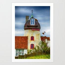Fort Green Windmill Aldeburgh Art Print