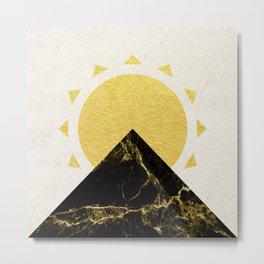 Golden sunrise in Montenegro Metal Print