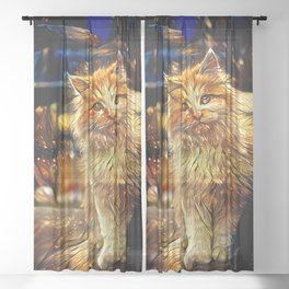 Dreams of a Midnight Visitor Sheer Curtain