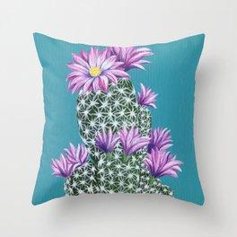 Purple Escobar Throw Pillow