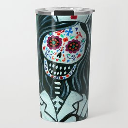 MY FAVORITE NURSE MEXICAN DAY OF THE DEAD PAINTING Travel Mug