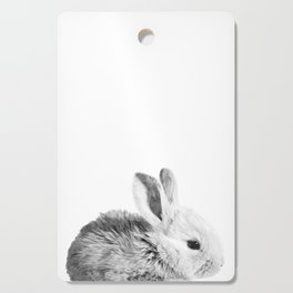 Black and White Bunny Cutting Board