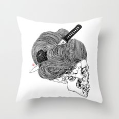 A Lady From Japan Throw Pillow
