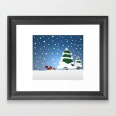 Winter doodle Framed Art Print