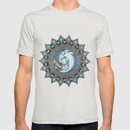 Yin and Yang Butterfly Koi Fish Mandala T-shirt
