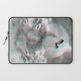 Maybe the Wolf Is In Love with the Moon v.2 (3D Effect) Laptop Sleeve
