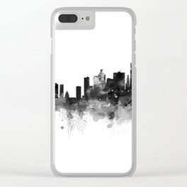 San Francisco Black and White Clear iPhone Case