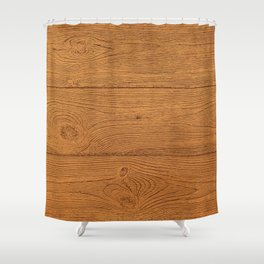 The Cabin Vintage Wood Grain Design Shower Curtain