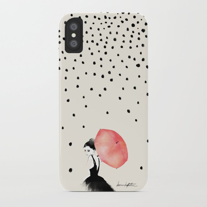Polka Rain iPhone Case
