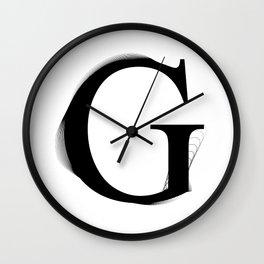 oboTypo _ G Wall Clock