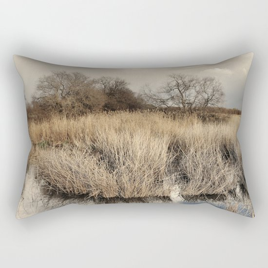 """Waiting for the storm"" At the lake... Rectangular Pillow"