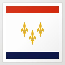 flag of new orleans,NOLA,Crescent City,Big Easy,Nawlins, jazz,Lousiana,french,cajun,treme Art Print
