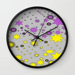 Shapes of Color Wall Clock