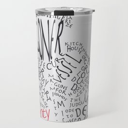 Man Made Up Of Songs Travel Mug