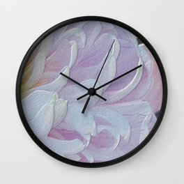 Time for a summer flowers pattern Wall Clock