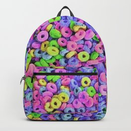 Fruit Loops Cereal Pattern Backpack
