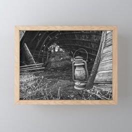 Vintage Lantern in Abandoned Barn 1 Framed Mini Art Print