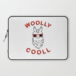 Woolly Cooll Cute Llama Pun Laptop Sleeve