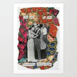 the weary but hopeful Art Print