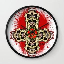 Inverted Cross Pentagram Wall Clock