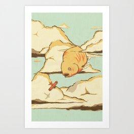 Sky Diving Art Print
