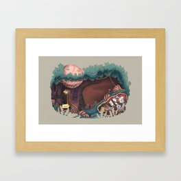 Insecurity forest Framed Art Print
