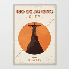 Rio de Janeiro City Retro Poster Canvas Print