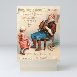 Vintage Advertising The Little Dancer Acid Phosphate Ad Mini Art Print