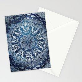 Indigo Nouveau Shibori Mandala Stationery Cards