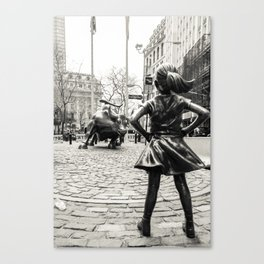 Fearless Girl & Bull NYC Canvas Print