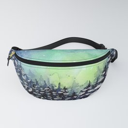 Galaxy Enchanted Forest Northern Lights Fanny Pack