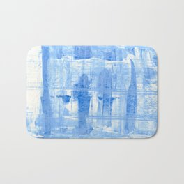Blue Cell Bath Mat