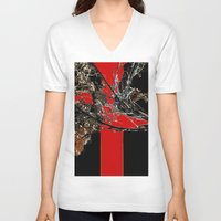 broken V-neck T-shirts featuring Broken    by Happy Holidays!