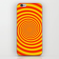 Yellow into Red via Orange Spiral iPhone & iPod Skin