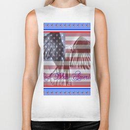 """""""God Bless America"""" Biker Tank"""