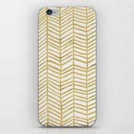 Gold Herringbone iPhone Skin