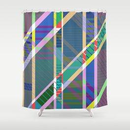 Pa5tel G30m3tri< - Geometric, tartan, pastel, abstract art Shower Curtain