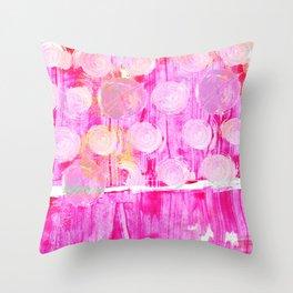 Luminosity of cerise Throw Pillow