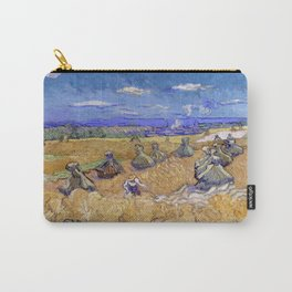 """Vincent van Gogh """"Wheat Stacks with Reaper"""" Carry-All Pouch"""